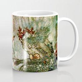"""King of the Mermaids"" Fairy Tale Art by Edmund Dulac Coffee Mug"