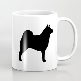 Norwegian Elkhound Silhouette Coffee Mug