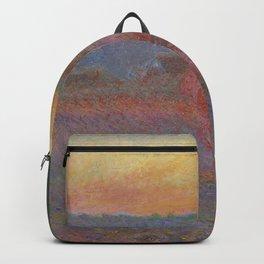 """Claude Monet """"Haystack (Meule)"""" Backpack"""