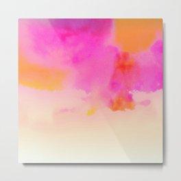 orange pink Metal Print