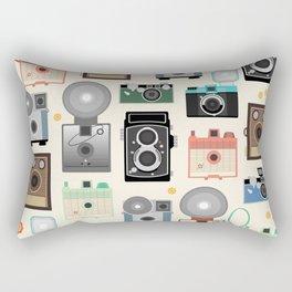 1960s Vintage Cameras Rectangular Pillow