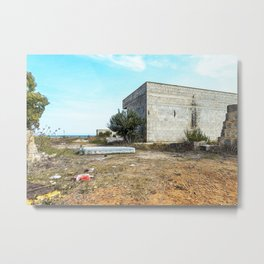 Abandoned building in countryside Metal Print