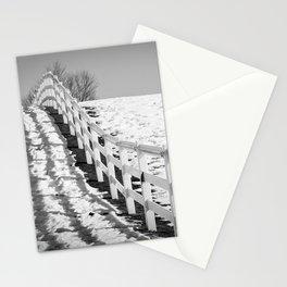 Endless Fences Black & White Rural Landscape Photo #society6 #decor #buyart Stationery Cards