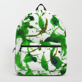 Green Drip Bubbles Backpack