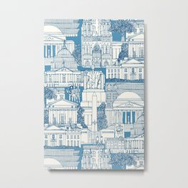 Washington DC toile blue Metal Print