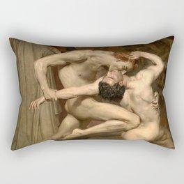 DANTE AND VIRGIL - WILLIAM-ADOLPHE BOUGUEREAU Rectangular Pillow