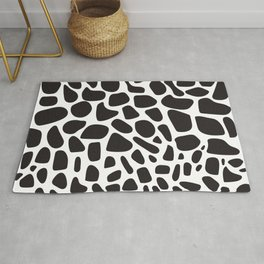 Moo moo spots in black and white Rug