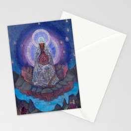 Mother Of The World By Nicholas Roerich Stationery Cards