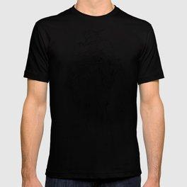 Gundam Barbatos Outline Black T-shirt