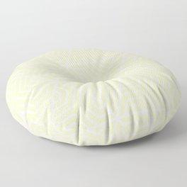 Lemon meringue - pink - Geometric Seamless Triangles Pattern Floor Pillow
