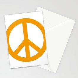 Peace (Orange & White) Stationery Cards