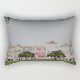 Colourful Row Rectangular Pillow