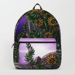 Sunflower in space Backpack