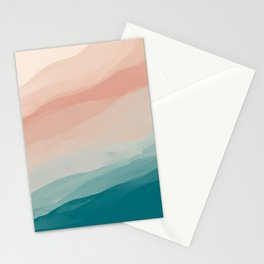 An Abstract Beach Walk Along The Shore Stationery Cards