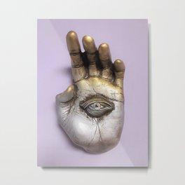 Hamsa art, Hamsa decor, Hamsa evil eye, Protection hamsa Metal Print