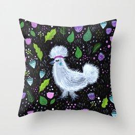 Glam Chicken Throw Pillow