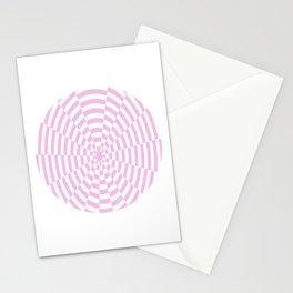 Monochrome Daze Pastel Pink Circle Stationery Cards