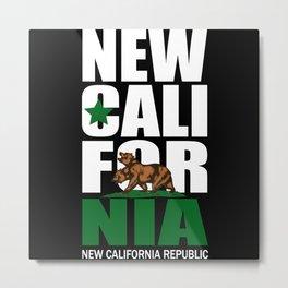 new california Metal Print