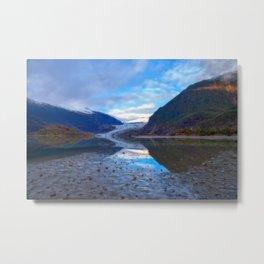 Glacier Mendenhall Juneau, Alaska Metal Print