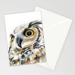 Owl Great Horned Bird of Prey Owls Animals Bird Wildlife Stationery Cards