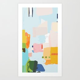 solving world hunger with pretty shapes Art Print