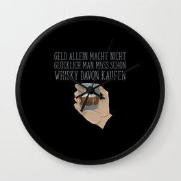 Whiskey Man Enjoying Money Wall Clock