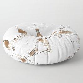 U of Tampa. Sepia. Floor Pillow