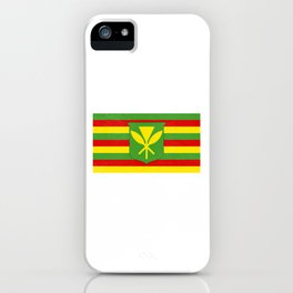 Mauna Kea Native Hawaiian Flag design iPhone Case