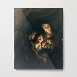 Old Woman with a Basket of Coal - Peter Paul Rubens Metal Print