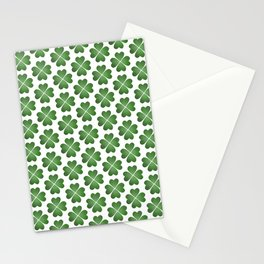 Hearts Clover Pattern Stationery Cards