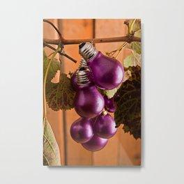 Collezione Lampadine colorate N° 4 il Viola Metal Print