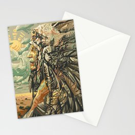 native american portrait Stationery Cards