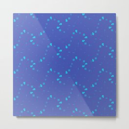 Simple Geometric Pattern 3 bt Metal Print