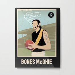 Bones McGhie for Dark Shirts Metal Print
