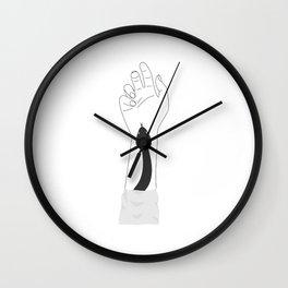 Snake Hand - White Wall Clock