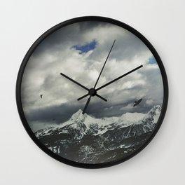 Wild Winter Mountains Wall Clock