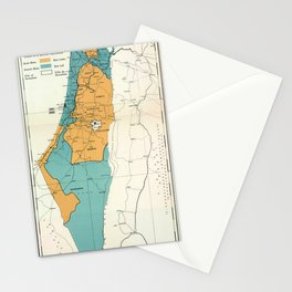 Map of Palestine Plan of Partition with Economic Union Stationery Cards