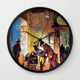 Papal Customs Audit - Carl Spitzweg Wall Clock
