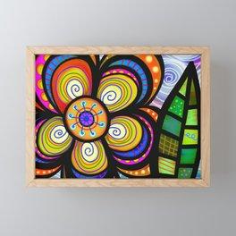 feuilles et fleurs motif 5 Framed Mini Art Print