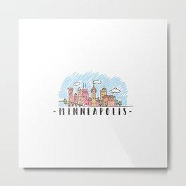 Minneapolis, Minnesota, City landscape Metal Print