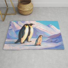 Happy Penguin Family Rug
