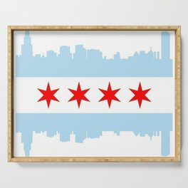 Chicago Flag Serving Tray