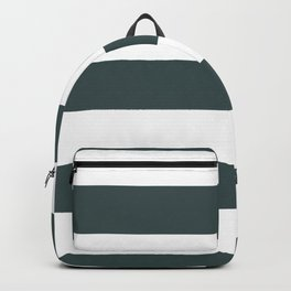 PPG Glidden Night Watch Green 1145-7 Hand Drawn Fat Horizontal Lines on White Backpack