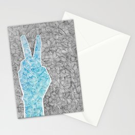 Zentangle Peace Sign Stationery Cards