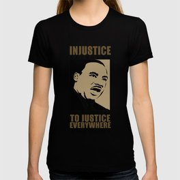 Martin Luther King Quote - Injustice T-shirt