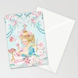 Marie Antoinette Hot Tea Stationery Cards