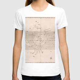 Johann Bayer - Uranometria / Measuring the Heavens (1661) - 23 Cancer T-shirt