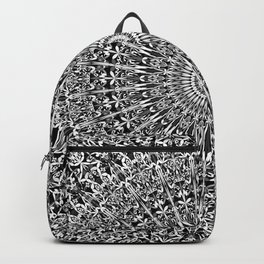 Grey Geometric Floral Mandala Backpack