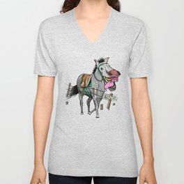 Greedy Horse Unisex V-Neck