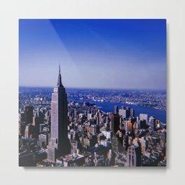 New York City // Retro 47 Metal Print
